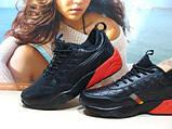 Мужские кроссовки Puma Ronnie Fieg HIghsnobiety RF698 (реплика) черно-красные 46 р., фото 6