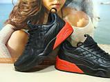 Мужские кроссовки Puma Ronnie Fieg HIghsnobiety RF698 (реплика) черно-красные 46 р., фото 8