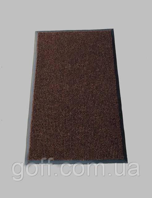 """Грязезащитные коврики для дома """"Поляна"""" коричневый 90х120см"""