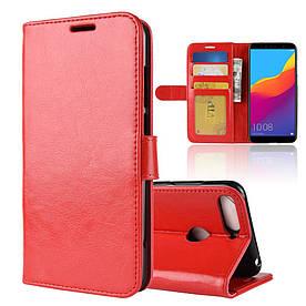 Чехол книжка для Huawei Honor 7A PRO AUM-L29 боковой, ORIGINAL CASE, красный