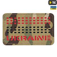 Нашивка M-Tac Ukraine Saser Cut Red/Black/Multicam, фото 1