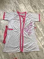 Халат і сорочка, подвійний комплект Батал