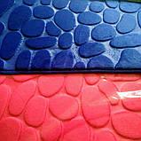 Плюшевый коврик «Галька» 40×60 см синий, фото 5