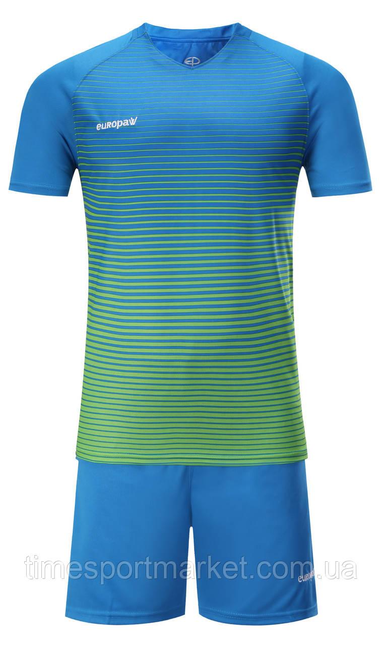 Футбольна форма для команд Europaw 013 синьо-зелена (Репліка)