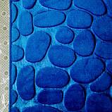 Плюшевый коврик «Галька» 40×60 см синий, фото 4