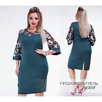 Красива сукня-футляр з крепу та вишитої сітки з блиском 07eafe25a57d9