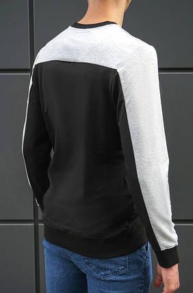 Мужская стильная кофта свитшот BEZET Grey/black, фото 2