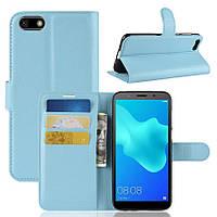 Чехол Huawei Y5 2018 / DRA-L21 / Honor 7A DUA-L22 5.45'' книжка PU-Кожа голубой