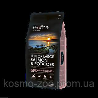 Сухой корм Профайн (Profine Junior Large Breed Salmon&Potatoes) c лососем для щенков больших пород, 15 кг