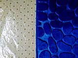 Плюшевый коврик «Галька» синий 50×80 см, фото 3