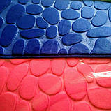 Плюшевый коврик «Галька» синий 50×80 см, фото 5