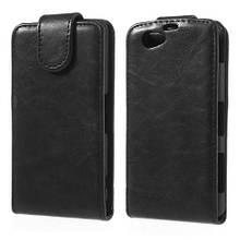 Чехол Flip Vertical Leather для Sony Xperia Z1 Compact D5503 черный
