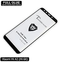 Защитное стекло Full Glue Xiaomi Mi A2 / Mi 6X (Black) - 2.5D Полная поклейка