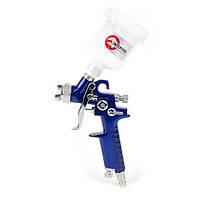 Пістолет фарбувальний пневматичний HVLP міні , форсунка 0,8 мм, верхня подача, INTERTOOL PT-0101, фото 1
