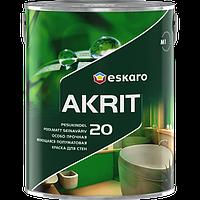 Особо прочная моющаяся полуматовая краска Eskaro Akrit 20,  9,5л
