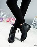 """Женские демисезонные ботинки с эффектом """"носка"""", фото 2"""