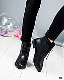 """Женские демисезонные ботинки с эффектом """"носка"""", фото 3"""