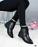 """Женские демисезонные ботинки с эффектом """"носка"""", фото 4"""