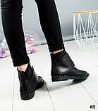 """Женские демисезонные ботинки с эффектом """"носка"""", фото 5"""
