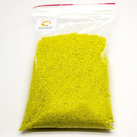 Песок кварцевый желтый, фракция 1-1,5, 500г/упаковка
