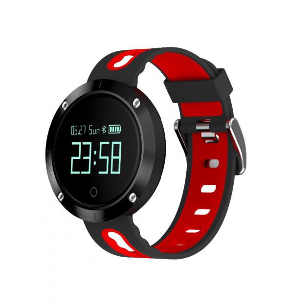 """Умные часы  Robot DM58 спортивные смарт-часы с GPS 0,95"""""""" 120mAh Черно-Красный"""