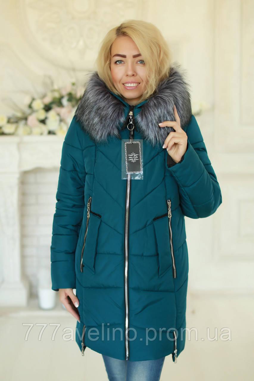 Зимняя женская куртка стильная