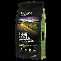 Сухой корм Профайн (Profine Light Lamb&Potatoes) ягненок и картофель для оптимизации веса, 15 кг