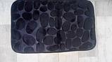 Плюшевый коврик «Галька» 40×60 см черный, фото 3