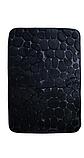 Плюшевый коврик «Галька» 40×60 см черный, фото 2