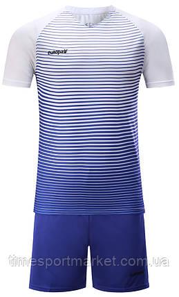 Футбольна форма для команд Europaw 013 біло-синя (Репліка), фото 2