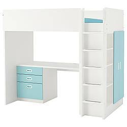✅ IKEA STUVA / FRITIDS (992.619.94) Кровать-чердак, белый, красный