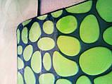 Плюшевый коврик «Галька» 40×60 см зеленый биколор, фото 4