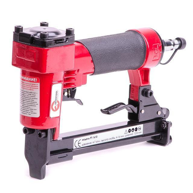 Степлер пневматичний під скобу 12,80x16 мм INTERTOOL PT-1610
