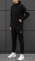 Мужская спортивная кофта BEZET Tech black '18 черная, фото 3