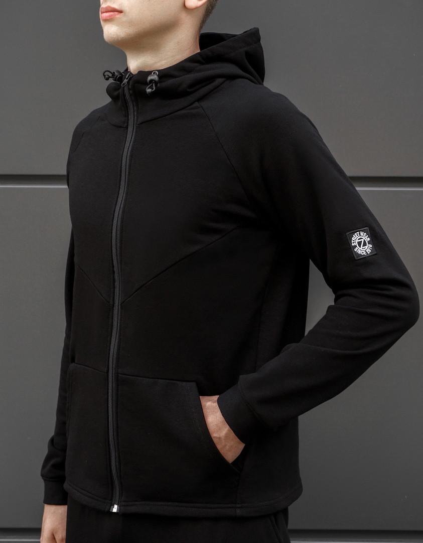 Мужская спортивная кофта BEZET Tech black '18 черная