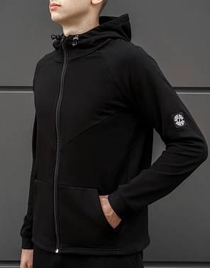 Мужская спортивная кофта BEZET Tech black '18 черная, фото 2