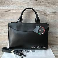 Кожаная сумка Celine большого размера