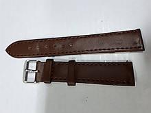 Ремешки заменитель ширина 18 мм гладкий коричневый