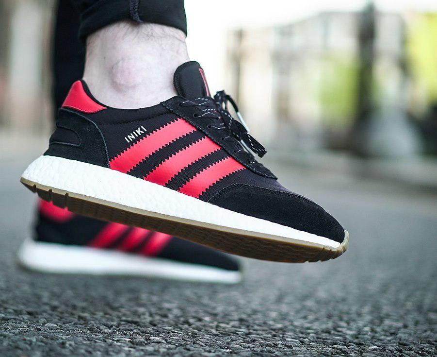892b1720 Кроссовки мужские Adidas Iniki Runner Boost Black&Red