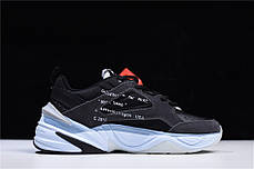 "Кроссовки Nike M2K Tekno Monarch Off-White ""Black"" (Черные), фото 2"