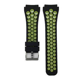 Спортивний ремінець з перфорацією для годин Xiaomi Huami Amazfit SportWatch 2 / Amazfit Stratos - Black&Green