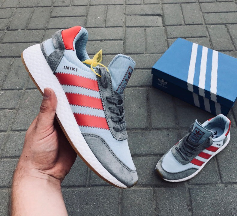 3726f7de Кроссовки мужские Adidas Iniki Runner Gray&Red