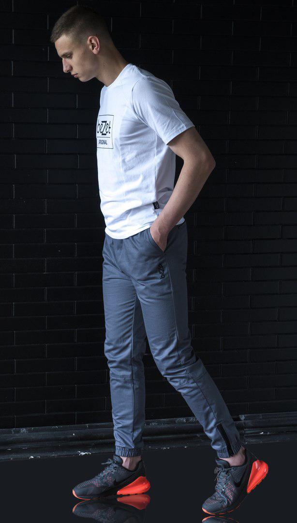 Мужские брюки джоггеры BeZet Zipp grey серые