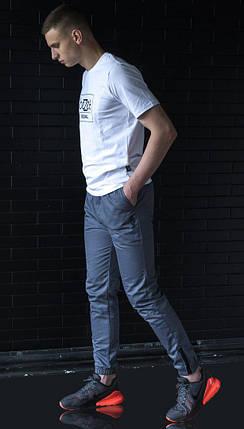 Мужские брюки джоггеры BeZet Zipp grey серые, фото 2