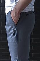 Мужские брюки джоггеры BeZet Zipp grey серые, фото 3