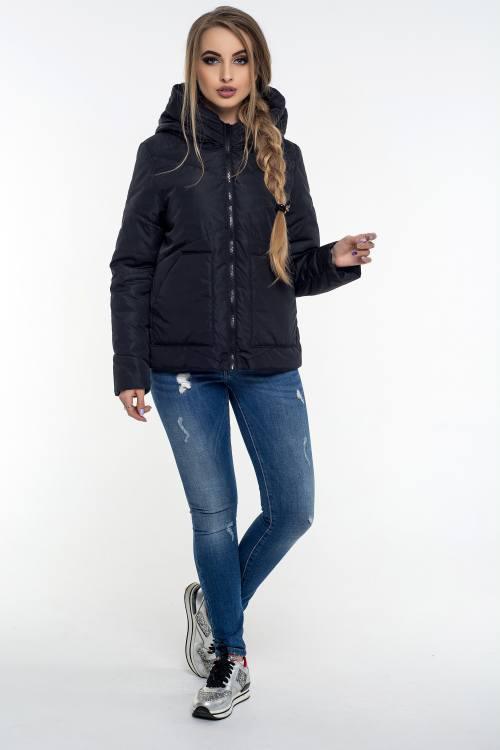 Модная женская куртка Элизабет черный (42-52)