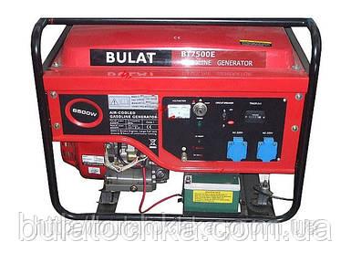 Генератор бензиновый BULAT BT7500E (6,0кВт - 6,5кВт)
