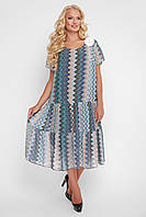 Платье летнее Катаисс синие зигзаги
