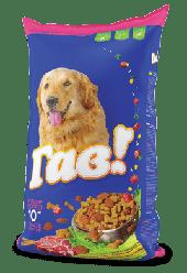 """Сухий корм для собак Гав! """"М'ясне асорті"""" 10 кг"""