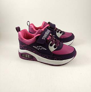 Кроссовки для девочек LED, детские кроссовки фиолетовые